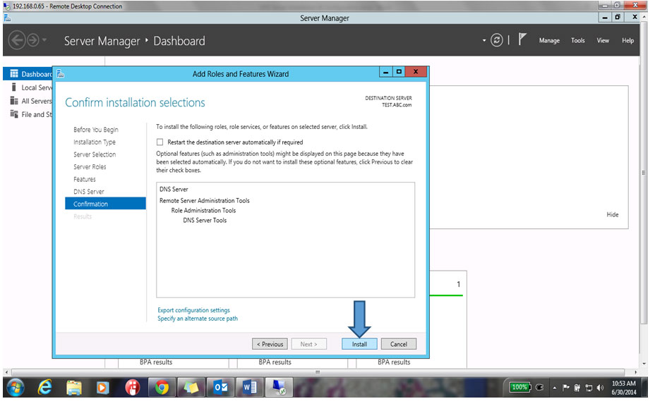 Confirm Install Selection