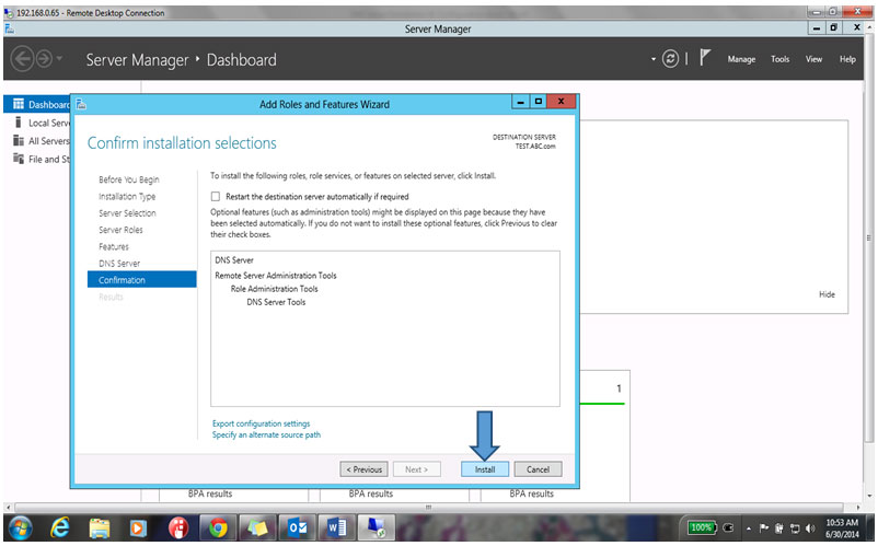 Confirm Install Selection window