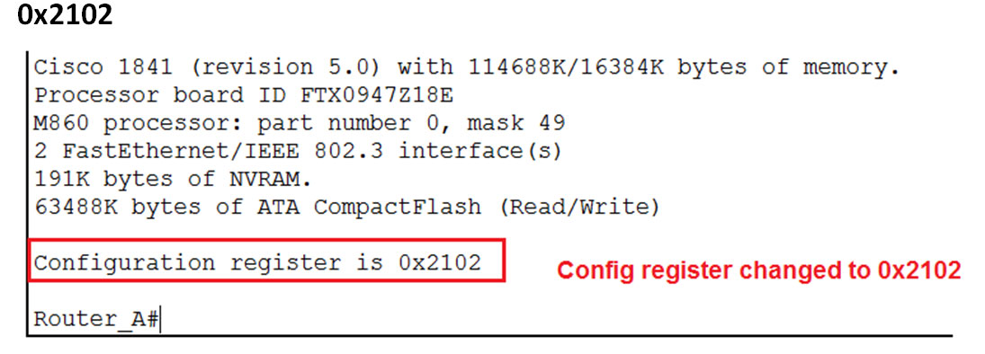 config register it is back to 0x2102