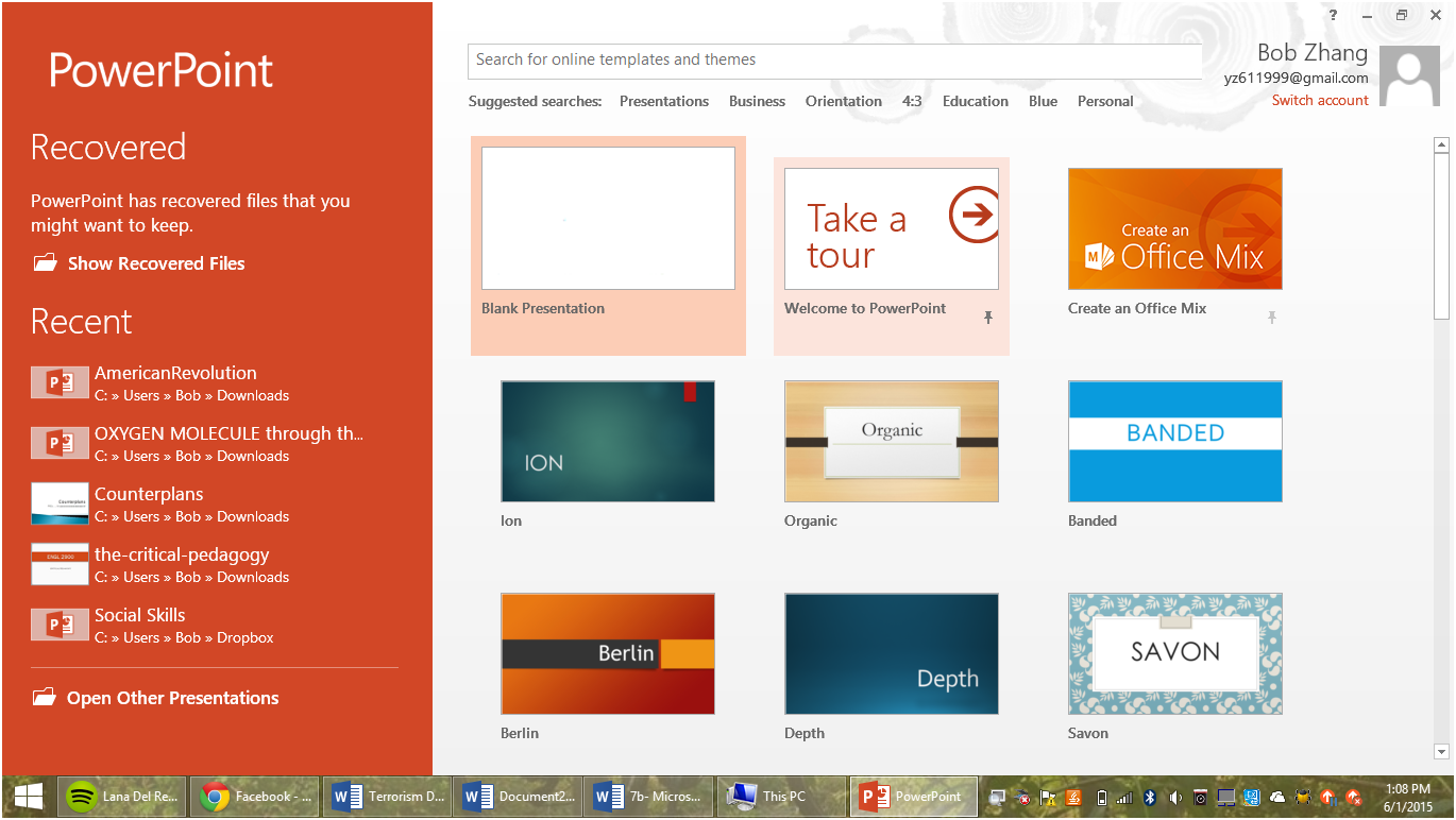 how to create a new powerpoint document, Presentation templates